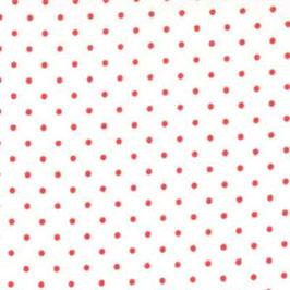 Essential dots - Pois rosso fondo bianco