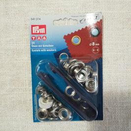 Occhielli 8mm argento