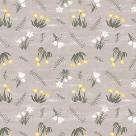 Primavera - Fiorellini su fondo grigio