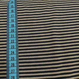 Jersey tinto in filo a righe - blu e tortora