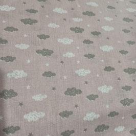 Tessuti Baby - Nuvolette rosa