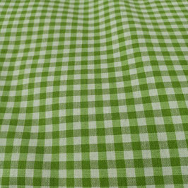 Tessuto quadri 0,5 cm verde