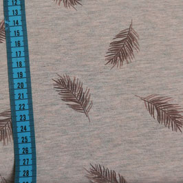 Jersey di cotone a stampa foglie - rosa