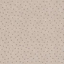 Misto lino shabby chic -puntino marrone su base lino