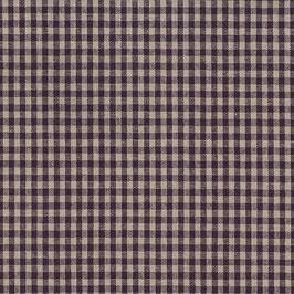 Misto lino shabby chic - viola e lino, quadrettato