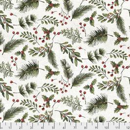 Natale - Tim Holtz - ramo fondo bianco