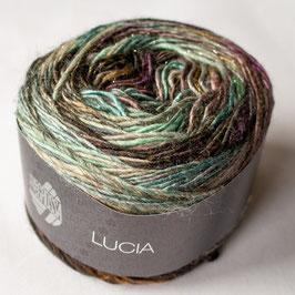 Lana grossa - Lucia grigio, beige, oliva, lilla, antracite e ambra con lurex