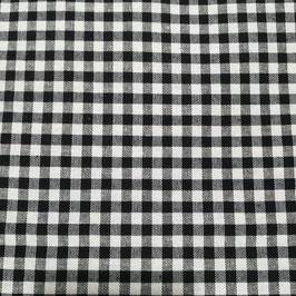 Tessuto quadri 0,5 cm nero