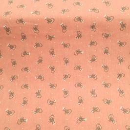 Tessuti baby - Uccellini fondo rosa