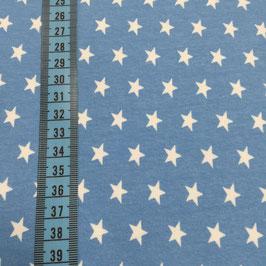 Jersey di cotone con stelline - azzurro