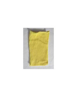 Tubolare maglina effetto pizzo giallino
