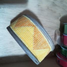 Mirta - Nastro bicolore a triangoli - giallo - 1 metro