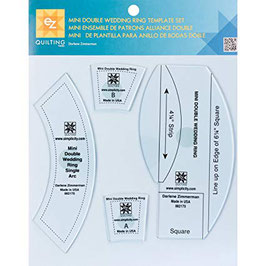 Mini double wedding ring template set