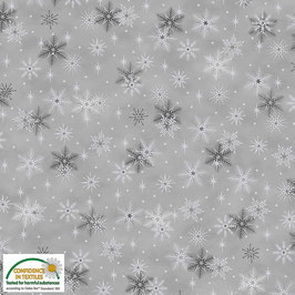 Magic Christmas Metal - Fiocchi di neve fondo grigio