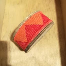 Mirta - Nastro bicolore a triangoli - arancione - 1 metro