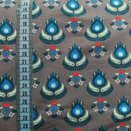 Jersey di cotone - Fantasia Rowan fondo grigio