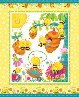 Pannello in cotone Busy Bees - 90*110 cm