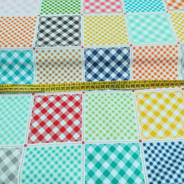 Baby tessuto patchwork a riquadri