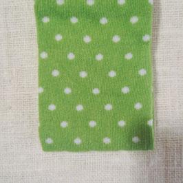 Tubolare maglina verde stampa pois bianchi