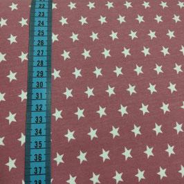 Jersey di cotone con stelle bianche - cipolla