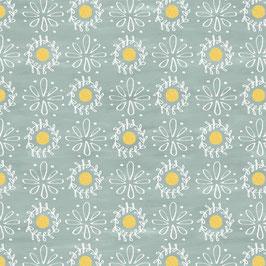Primavera - Motivi su fondo verde-grigio