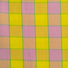 Basici - grandi riquadri tinto in filo rosa e giallo