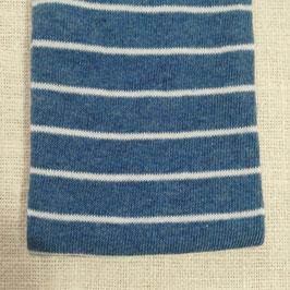 Tubolare maglina base blu righe bianche