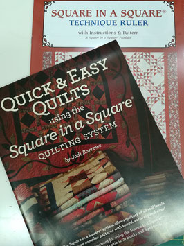 Quick & Easy Quilts using the Square in square system, con la squadra square in square