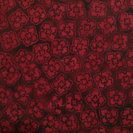 Modern - batik quadrifogli bordeaux
