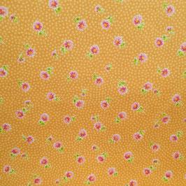 Baby fiori fucsia fondo arancione