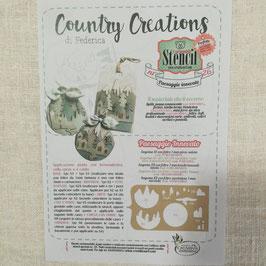 """Stencil """"Paesaggio innevato"""" di Federica Country Creations"""
