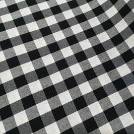 Tessuto quadri 1,5 cm nero