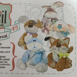 """Stencil """"Cuccioli Amorosi"""""""