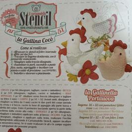 """Stencil """"la Gallina Cocò"""""""