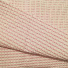 Spugna nido d'ape stretto rosa e bianco doubleface