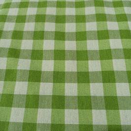 Tessuto quadri 1,5 cm verde
