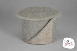 Fascia lana cardata doubleface - grigio/iridescente