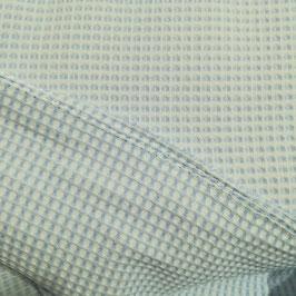 Spugna nido d'ape stretto azzurro e bianco doubleface