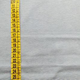 Jersey tinto in filo a microrighe - azzurro e bianco