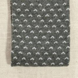 Tubolare maglina grigio stampa cuoricini