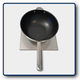 Wok-Sizzlingplatte mit Wok