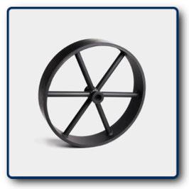 Ersatz-Metallrad gummiert