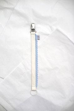 Schnullerband Lace hellblau