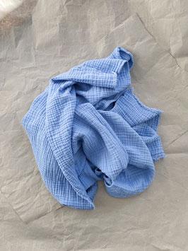 Tripple- Musselin Decke blau
