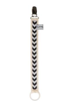 Schnullerband Arrow schwarz/weiß