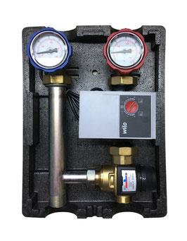 Heizkreispumpengruppen mit 3 Wege-Mischer mit Thermostatkopf