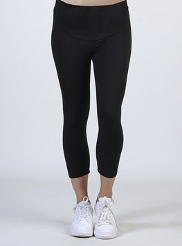 Leggings Courts Noir Coton