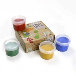 Coffret 4 pots peinture aux doigts naturelle & vegan
