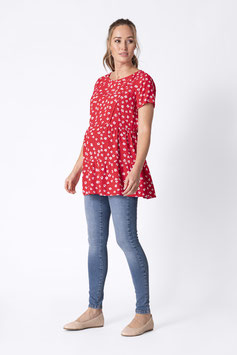 Top Leora Manches Courtes Rouge (G&A)