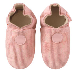 Chaussons Velours Rose